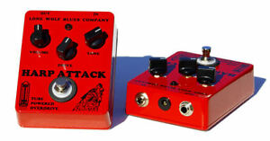 Used Once Distortion Pedal For Harmonica Lone Wolf Harp Attack