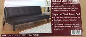 Leather Futon brand new in sealed box