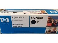 3 x GENUINE HP Color Laserjet Printer BLACK Toner Cartridges (C9700A) boxed for models 1500 / 2500