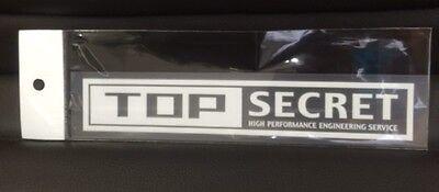 TOP SECRET Logo type Decal Sticker White Free shipping