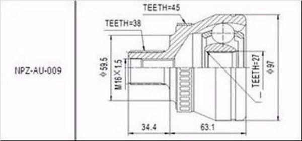 Joint Set Outer Audi A4 A6 A8 VW Passat 1996 -2005 NEW