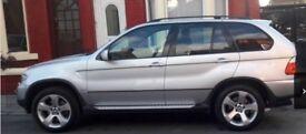 BMW X5 DIESEL AUTOMATIC SILVER FULL BLACK LEATHER INTERIOR 12mths MOT