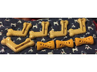 Nylabone Romp Chomp Dog Toys x 8
