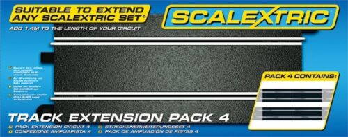 Scalextric Track Extension Pack 4 - 4pcs C8205 350mm Straight Tracks C8526