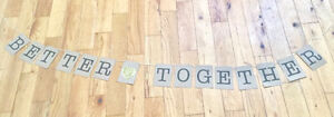 Rustic ETSY Wedding Sign BETTER TOGETHER