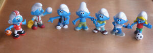 6 Smurfs and 2 smufettes Dated 2009