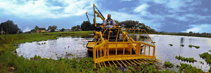 Aquatic Weed Cutting and Harvesting Boat