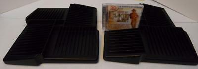 LOT OF 2 SPINNING BLACK PLASTIC 52 CD JEWEL CASE STORAGE RACKS HOLDERS