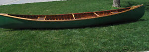 Cedar Strip and Canvas Canoe