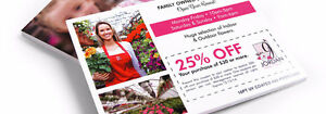 """4' X 6"""" Full Color, Business Postcards Printed & Mailed 17¢ each"""