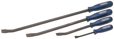 Draper Heavy Duty 4 Piece Pry Bar Set Crowbar Wrecking Prybar Crow 35396