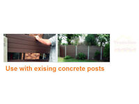 FENCING PVC THAT CAN FIT INTO YOUR EXISTING CONCRETE POST