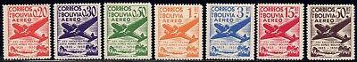 1950 Bolivia SC# C130-C136 - 25th Anniv. of the Founding of Lloyd Aero - M-NH