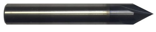"""1/4"""" 4 FLUTE 60 DEGREE CARBIDE CHAMFER MILL - TiALN COATED"""