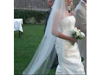 Stunning bespoke designer ivory wedding dress commissioned and designed by Katy Britton