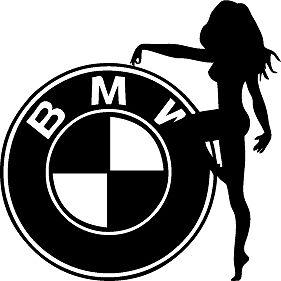 Bmw And Woman Car Sticker Decal Ebay