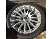 4 x 3 stud alloys Citron Saxo multi spoke alloy wheels silver with tyres