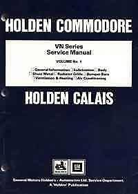 Holden Commodore VN Series 1988 - 1991 Factory Service Manual Blacktown Blacktown Area Preview