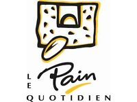 Team Members wanted at Le Pain Quotidien in Canary Wharf -Waiters/Waitresses/Retail/Barista's
