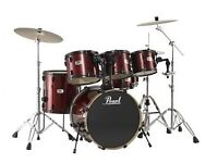 Pearl Forum Drum Kit with stands/mutes/cases for sale
