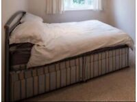 Double bed with Divan 4 drawer base in good condition for quick collection