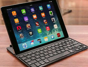 Ipad Mini Case with Keyboard. Protective slim Lined leather case
