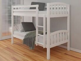 Happy Beds American White Solid Pine Wooden Bunk Bed - NO MATTRESSES
