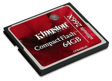 Kingston Compact Flash 64 GB geheugenkaart