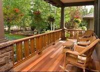 Outdoor staining /sealing protect your wood from weather damage
