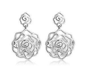 gross garden gold earrings l h white flower diamond jewelers