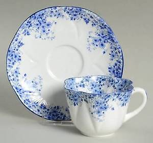 Dainty Blue - Perfect condition - Tea Cups / Saucers