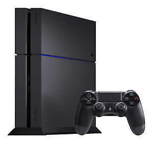 PS4 console with controller
