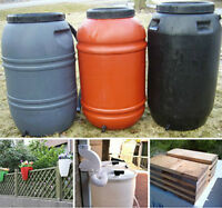 RAIN BARRELS with ACCESSORIES - BEST PRICES!