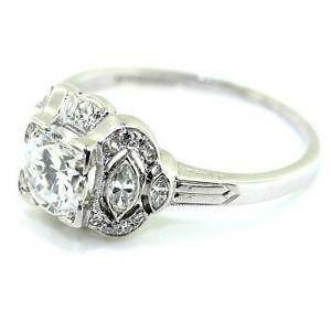 art deco engagement ring ebay - Art Deco Wedding Rings
