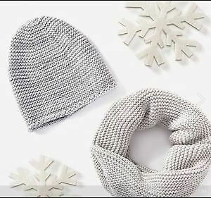 Slouchy Hat and scarf, silver sparkly Belleville Belleville Area image 1