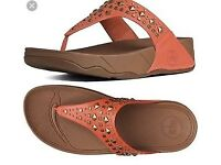 Fitflops thong orange jewelled sandals