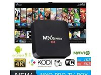 mxq pro android tv box fully loaded to Uk standard with complete sky live channels latest films etc