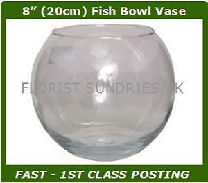 Glass Fish Bowl Large Decorative Wedding Party Ball Vases Flower Display 6 SIZES