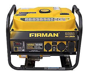 Generator, Firman 4550 Watts Performace Series, Like New
