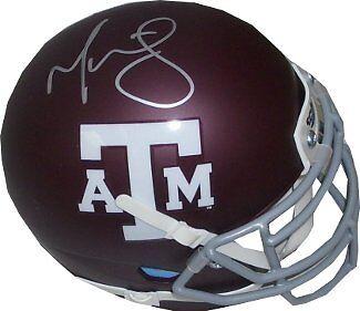 Martellus Bennett signed Texas A&M Aggies Authentic Schutt Mini Helmet