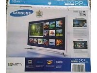 "Boxed White Samsung 22"" smart led tv wifi"