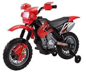 Brand New Child Ride-On Toy Dirt Bike with Training Wheels more