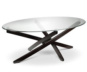 Modern Fused Glass-top Coffee Table