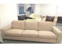 B&B Italia Beige 3-Seater Sofa