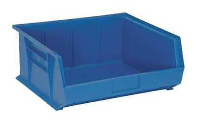 New - Quantum Storage Systems Qus250bl Blue Hang And Stack Bin 14-34l X