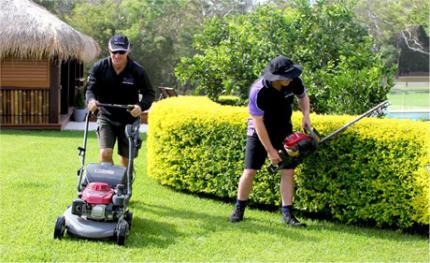 Mowing gardening landscaping turfing garden services