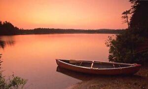 Fiberglass Canoe 15 ft (Watson) +paddles+life jackets+ car kit