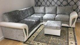 FREE POUFFE with New Scs velvet couch