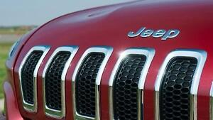 Jeep cherokee grille front end chrome inserts