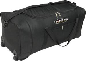 New - ROLLING DUFFLE BAG WITH WHEELS - FOLDS TO VERY COMPACT SIZE -- MAKES TRAVEL EASIER !!